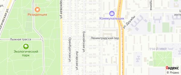 Ленинградский переулок на карте Магнитогорска с номерами домов