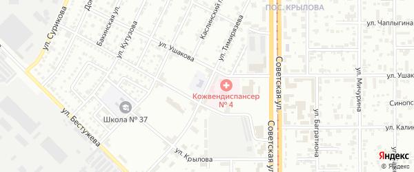Улица Тимирязева на карте Магнитогорска с номерами домов