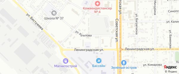 Псковский переулок на карте Магнитогорска с номерами домов