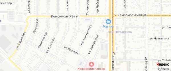 Каслинский переулок на карте Магнитогорска с номерами домов