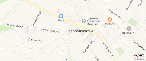 Советский переулок на карте села Новобелокатая с номерами домов