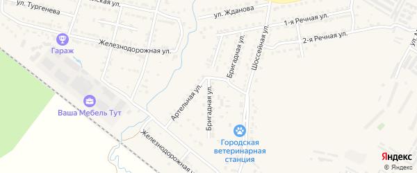 Артельная улица на карте Сатки с номерами домов