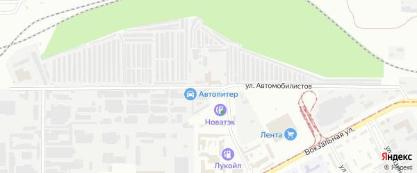 Улица Автомобилистов на карте Магнитогорска с номерами домов