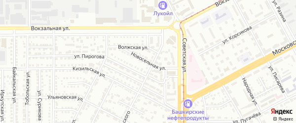 Новосельная улица на карте Магнитогорска с номерами домов