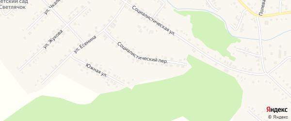 Социалистический переулок на карте села Новобелокатая с номерами домов