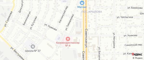 Переулок Ушакова на карте Магнитогорска с номерами домов