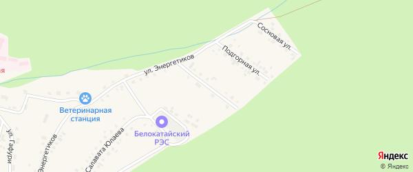 Высоковольтная улица на карте села Новобелокатая с номерами домов