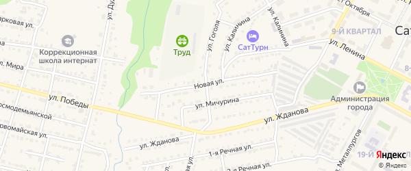 Новая улица на карте Сатки с номерами домов
