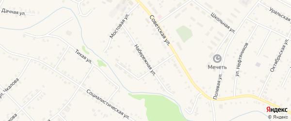 Набережная улица на карте села Новобелокатая с номерами домов