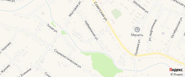 Мирный переулок на карте села Новобелокатая с номерами домов