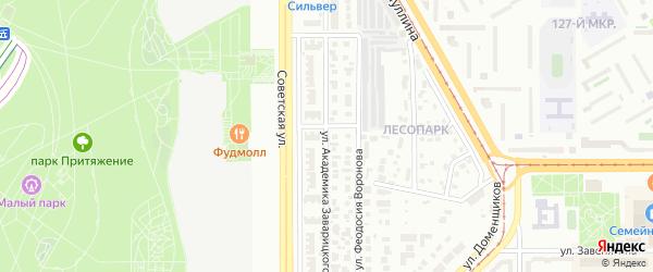 Улица Академика Заварицкого на карте Магнитогорска с номерами домов