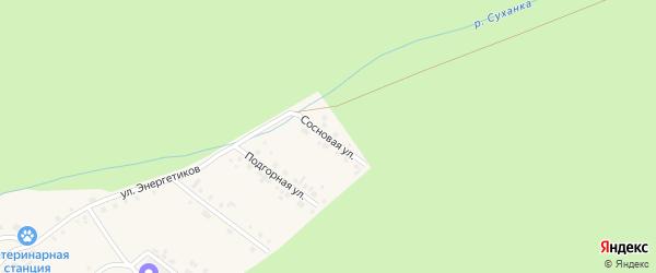 Сосновая улица на карте села Новобелокатая с номерами домов