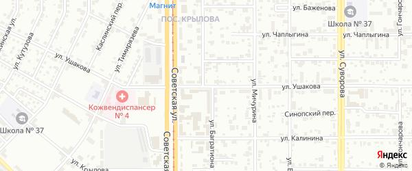Улица Ушакова на карте Магнитогорска с номерами домов