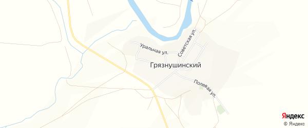 Карта Грязнушинского поселка в Челябинской области с улицами и номерами домов
