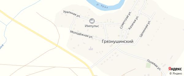 Дорожный переулок на карте Грязнушинского поселка с номерами домов
