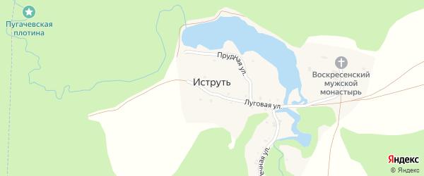 Прудная улица на карте поселка Иструти с номерами домов