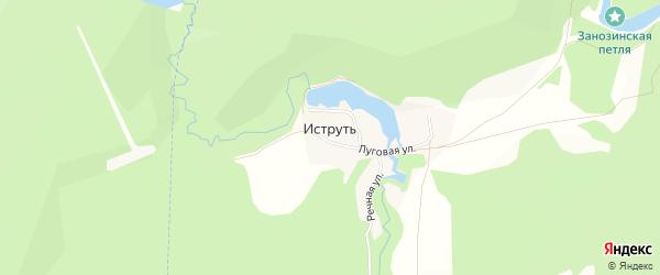 Карта поселка Иструти в Челябинской области с улицами и номерами домов