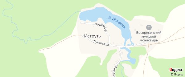 Речная улица на карте поселка Иструти с номерами домов