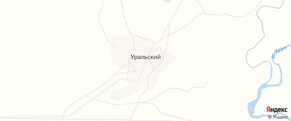 Карта деревни Уральского в Башкортостане с улицами и номерами домов