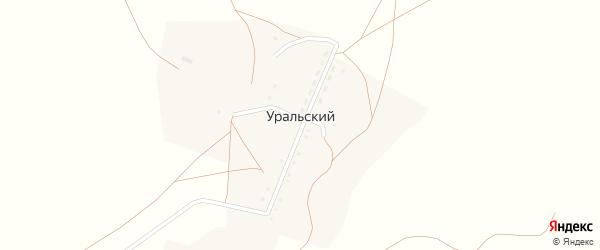 Комсомольская улица на карте деревни Уральского с номерами домов