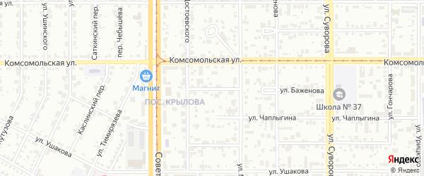 Улица Достоевского на карте Магнитогорска с номерами домов