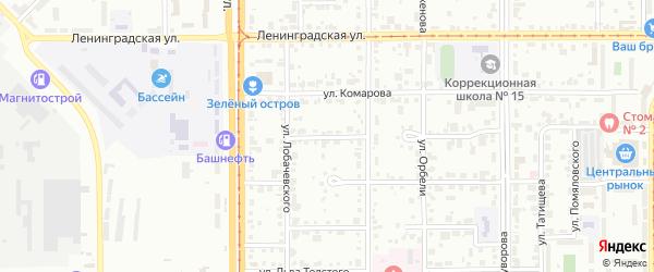 Улица Черепанова на карте Магнитогорска с номерами домов