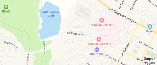 Улица Гаврилова на карте Сатки с номерами домов