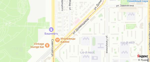 Улица Доменщиков на карте Магнитогорска с номерами домов