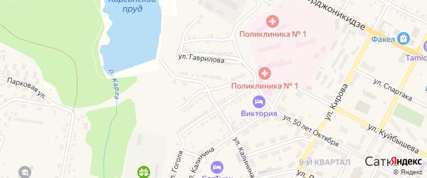 Улица Черепанова на карте Сатки с номерами домов