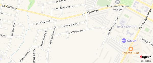 2-я Речная улица на карте Сатки с номерами домов