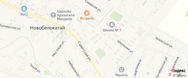 Зеленый переулок на карте села Новобелокатая с номерами домов