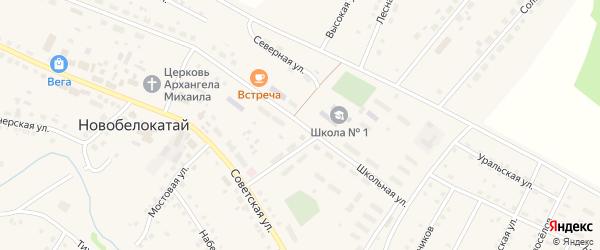 Школьная улица на карте села Ургалы с номерами домов