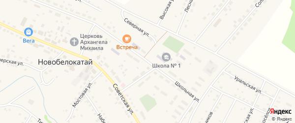 Школьная улица на карте села Новобелокатая с номерами домов