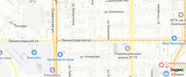 Улица Мичурина на карте Магнитогорска с номерами домов