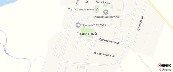 Овражная улица на карте Гранитного поселка с номерами домов