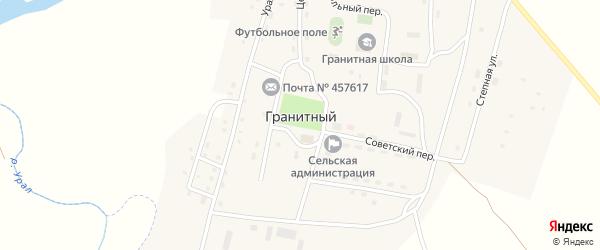 Советский переулок на карте Гранитного поселка с номерами домов