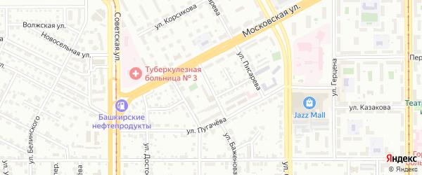 Народная улица на карте Магнитогорска с номерами домов
