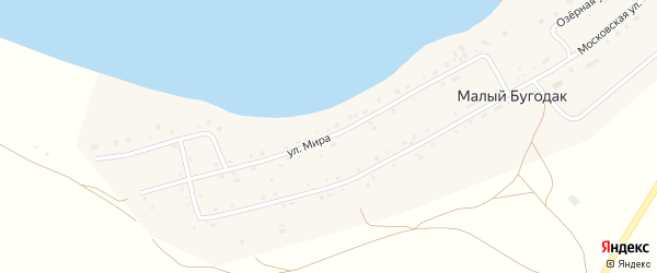 Улица Мира на карте поселка Малого Бугодака с номерами домов