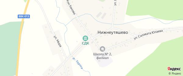 Улица Победы на карте деревни Нижнеутяшево с номерами домов