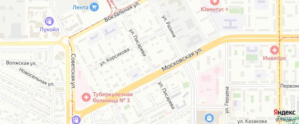 Улица Писарева на карте Магнитогорска с номерами домов