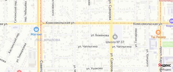 Переулок Туймазы на карте Магнитогорска с номерами домов