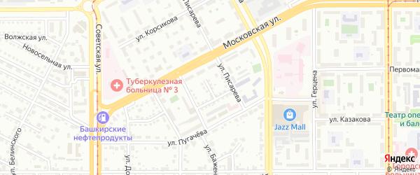 Заезд Фурманова на карте Магнитогорска с номерами домов