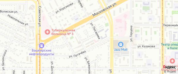 Малая улица на карте Магнитогорска с номерами домов