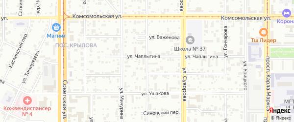Улица Баженова на карте Магнитогорска с номерами домов