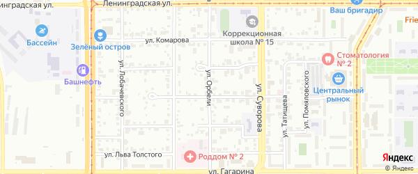 Улица Орбели на карте Магнитогорска с номерами домов
