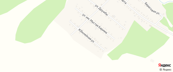 Юбилейная улица на карте села Новобелокатая с номерами домов