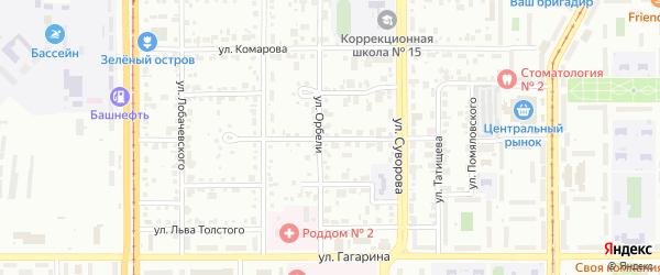 Переулок Кулибина на карте Магнитогорска с номерами домов