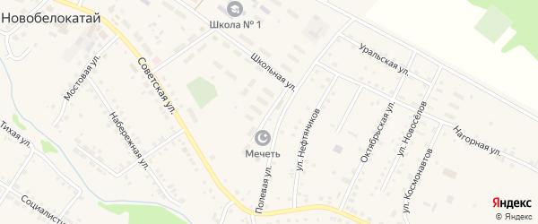 Улица Мира на карте села Новобелокатая с номерами домов