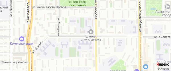 Улица Дружбы на карте Магнитогорска с номерами домов