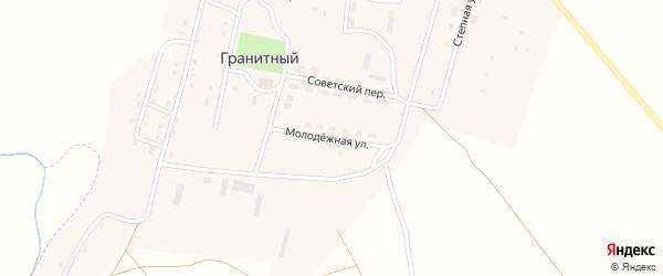 Молодежная улица на карте Гранитного поселка с номерами домов